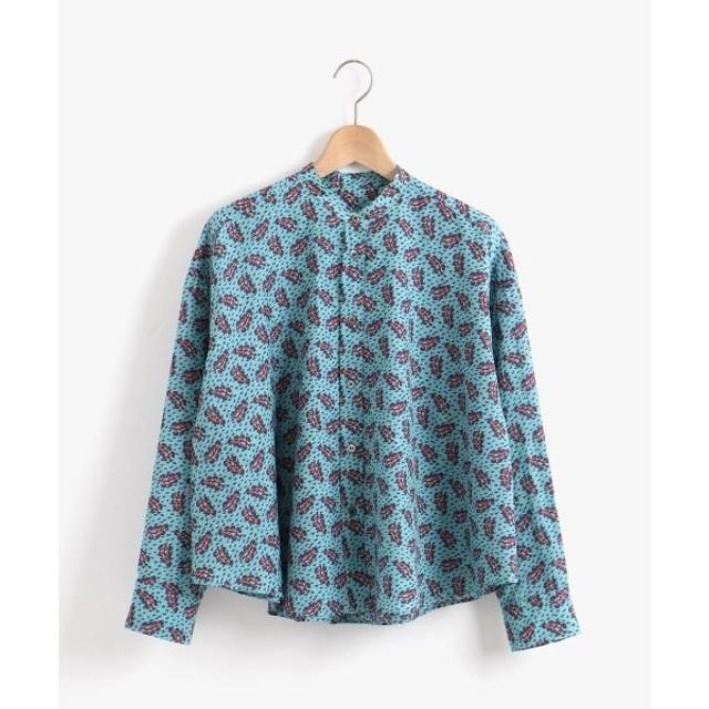 NIMES / ニーム リバティプリントバンドカラーシャツ