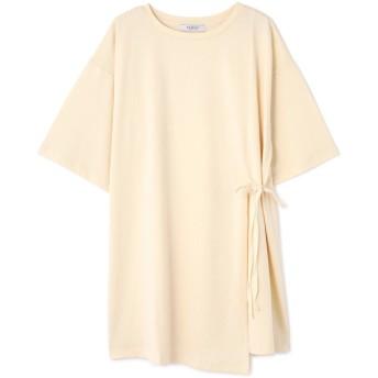 SALE 【46%OFF】 ROSE BUD ローズバッド スリットチュニックTシャツ ホワイト