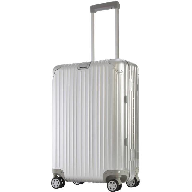 GENCO (ジェンコ) アルミマグネシウム合金ボディ トラベルバッグ スーツケース キャリーバッグ (M, シルバー)