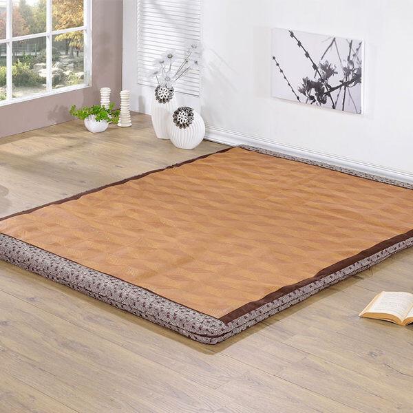台灣製/耐髒佳紙纖蓆面高密度冬夏兩用單人床墊(雅紋咖啡灰)