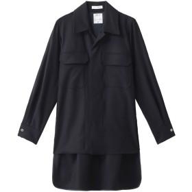 MADISONBLUE マディソンブルー フランネルオープンカラーシャツ ネイビー