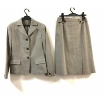 ニューヨーカー NEW YORKER スカートスーツ サイズ11 M レディース 美品 ダークブラウン×ライトグレー【中古】