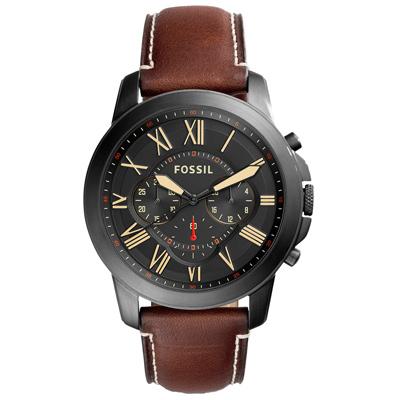 FOSSIL 古典伯爵三環計時腕錶-FS5241/44mm
