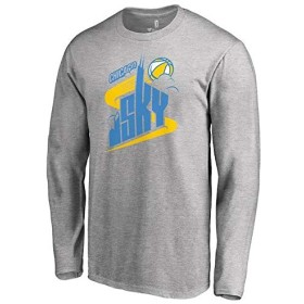 Fanatics Branded Fanatics Branded Chicago Sky Heathered Gray Primary Logo Long Sleeve T-Shirt スポーツ用品 4XL 【並行輸入品】