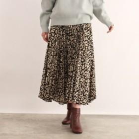 オゾック(OZOC)/[洗える]ランダムプリーツフレアスカート