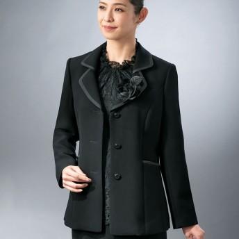 ベルーナ ブラックフォーマル 2枚衿テーラージャケット ブラック LL レディース