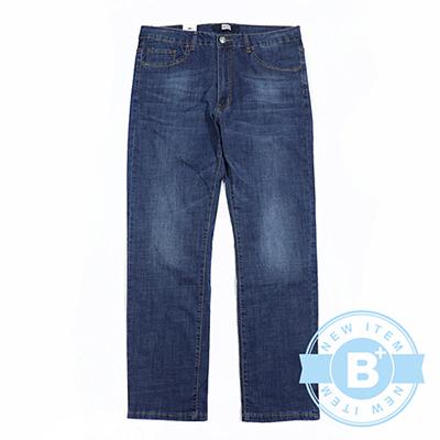 加大尺碼31-17739修身彈性牛仔長褲-刷白藍