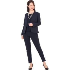 [アッドルージュ] スーツ レディース パンツスーツ フォーマル セレモニー ストレッチ ジャケット 【t5280】 ネイビー×ネイビー 11号