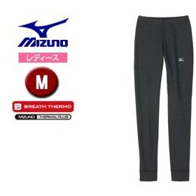 mizuno/ミズノ  A2JB5717-08 ブレスサーモ ウールヘビーウエイト ロングタイツ レディース 【M】 (チャコール)