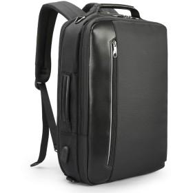 4 1では多機能ナイロンメンズビジネスショルダーバックパック15.6インチラップトップ充電用USB Bagpack男性Mochila旅行、ブラック