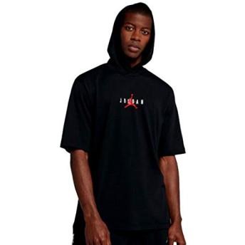 ジョーダン メンズ フーディー Jordan Jumpman Air HBR Short Sleeve Hoodie 半袖 パーカー Black/Gym Red_XXL [並行輸入品]