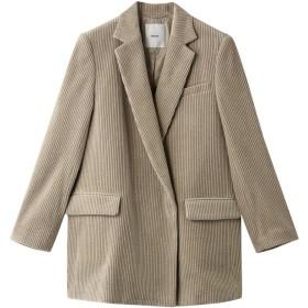 ebure エブール ワイドコーデュロイ シングルジャケット ライトベージュ