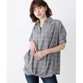 SHOO・LA・RUE / シューラルー 【WEB限定サイズ・05(3L)あり/2点セット/】裾ねじりスキッパーシャツ+タンクトップ