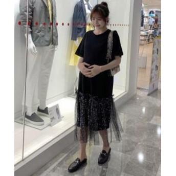 ファッショ ワンピース 韓国 レディース ファッション 夏服 無地 レディース オルチャン ひざ下丈 レディース 韓国 風