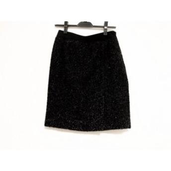 マテリア MATERIA スカート サイズ38 M レディース 美品 黒 ラメ【中古】