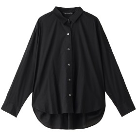 SALE 【30%OFF】 mizuiro ind ミズイロインド コクーンロングスリーブシャツ ブラック