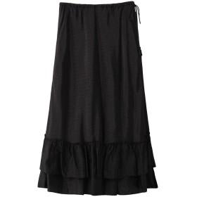 ne Quittez pas ヌキテパ レーヨンドビースカート ブラック