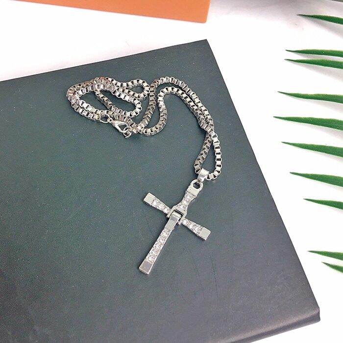 十字架項鍊 項鍊 十字架 吊飾 潮流 配件 男性飾品 生日禮物 服飾配件【葉子小舖】