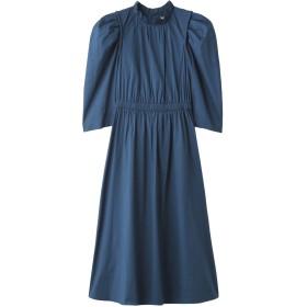 Sea New York シー ニューヨーク パフスリーブギャザードレス ブルー