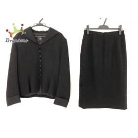 ユミカツラ yumi katsura スカートスーツ サイズ13 L レディース 黒 3点セット 新着 20190826