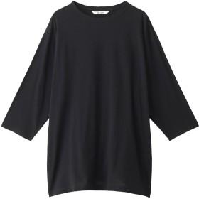 Whim Gazette ウィム ガゼット スーピマリネンドライ天竺Tシャツ ブラック
