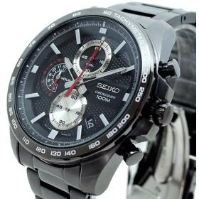 セイコー SEIKO 腕時計 メンズ SSB283P1 クォーツ ブラック ガンメタル