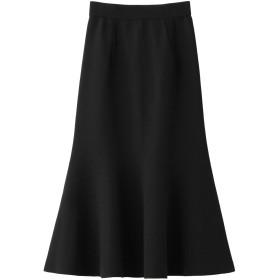 LE CIEL BLEU ルシェルブルー Lowerフレアスカート ブラック