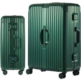 Langxj hj スーツケース キャリーバッグ アルミニウムマグネシウムフレーム 機内持ち込みスーツケース 預け入れスーツケース 自在車 キャスター 研磨加工のPCボディ TSAロック搭載5018 (S, ビリジャン)