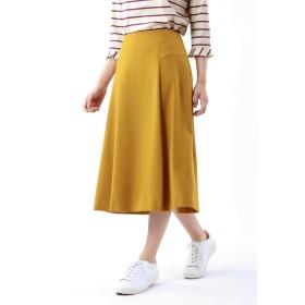 TRANS WORK 【ウォッシャブル】ウーリッシュサージスカート その他 スカート,イエロー