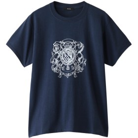 allureville アルアバイル ヴィンテージエンブレムTシャツ ネイビー