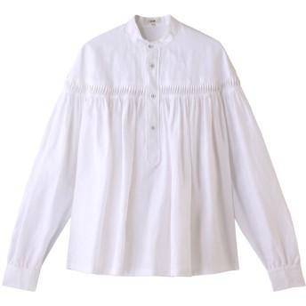 Scye/SCYE BASICS サイ/サイベーシックス リネン高密度長袖タックシャツ オフシロ