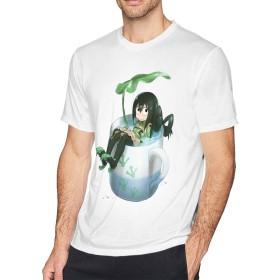 渡辺家のココア 僕のヒーローアカデミア メンズ半袖Tシャツ 白 L
