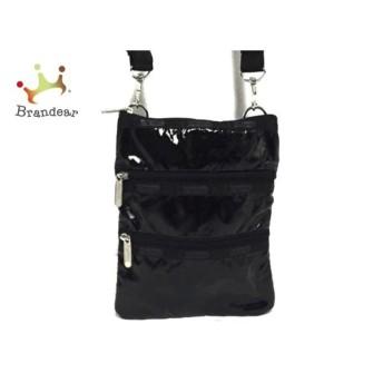 レスポートサック LESPORTSAC ショルダーバッグ 美品 黒 3段ファスナー 化学繊維 新着 20190826