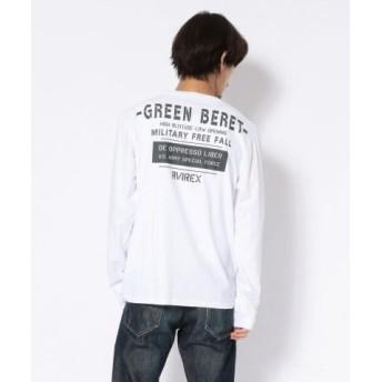 (AVIREX/アヴィレックス)クルーネックTシャツ グリーンベレー ハロ/T-SHIRT GREEN BERET HALO/メンズ WHITE 送料無料
