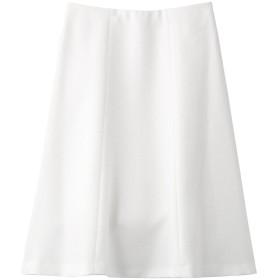 ANAYI アナイ バスケットストレッチフレアスカート ホワイト