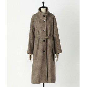 <KINDERSALMON/キンダーサルモン> BELTED HIGH-NECK COAT 【三越・伊勢丹/公式】