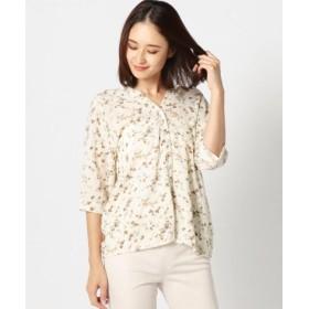 (MEW'S REFINED CLOTHES/ミューズ リファインド クローズ)前後2WAY花柄ブラウス/レディース シロ