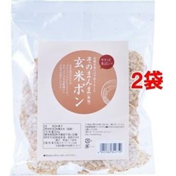 ビオ・マルシェ 有機玄米使用 そのまんま玄米ポン (50g*2袋セット)