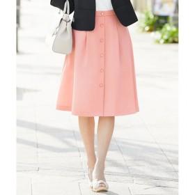【エニィスィス/any SiS】 【洗える】フロントボタンタック スカート