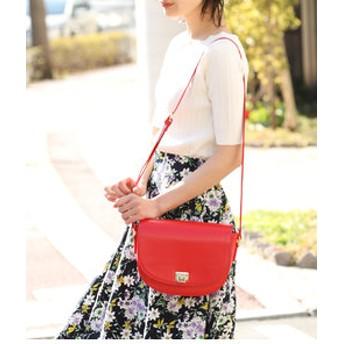 【ViS:バッグ】【WEB限定カラー】ハーフオーバルミニショルダーバッグ