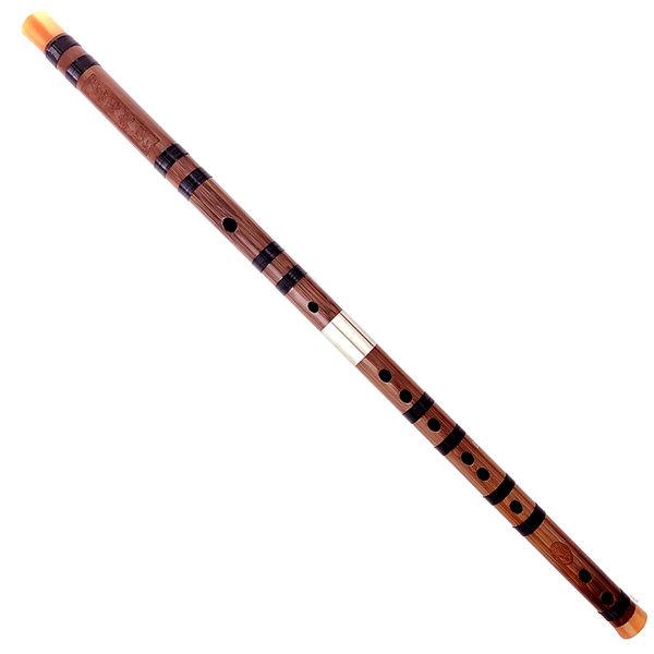 ◆杭州余杭廠製手工精緻 ◆雙接白銅骨雕中级定音笛 ◆精工紅花角骨雕 ◆拋光天然原生竹笛