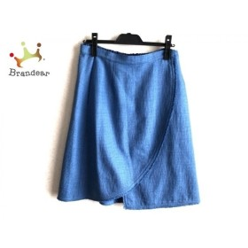 フェンディ FENDI 巻きスカート サイズ44 L レディース 美品 ブルー 新着 20190828