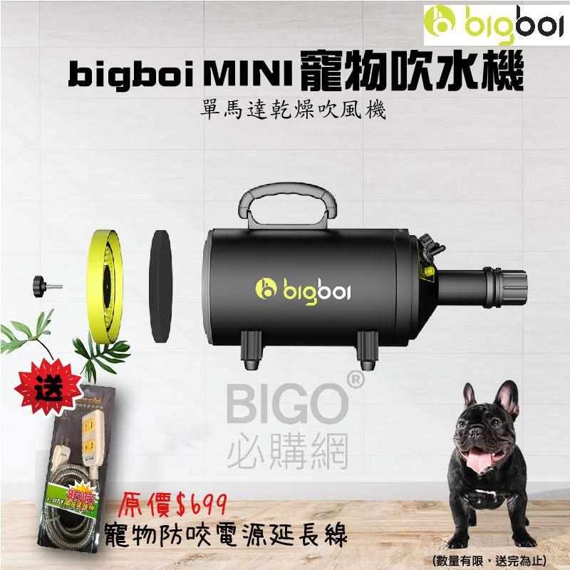限量贈送 寵物防咬線 bigboi MINI 寵物 吹風機 不鏽鋼 三孔 寵物吹水 吹風機 汽機車 家用 單馬達