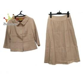 ホコモモラ JOCOMOMOLA スカートスーツ レディース 美品 ライトブラウン 新着 20190827