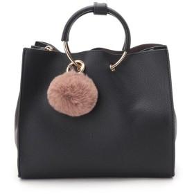Couture Brooch(クチュールブローチ) ポンポン付き合皮2WAYハンドバッグ
