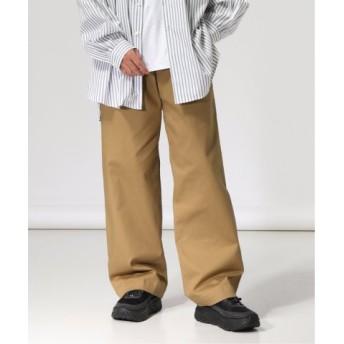 (JOURNAL STANDARD/ジャーナルスタンダード)NUMBER M/ナンバーエム : stretch wide chino pants/メンズ ベージュ 送料無料