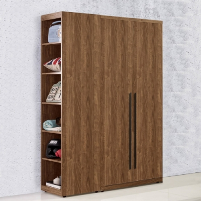 D&T 德泰傢俱  DINO清水模風格 3.6尺單吊+側邊開放衣櫃 A011-T07+T09