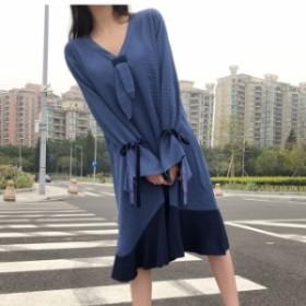 新作女性ファッション ワンピース 秋 韓国 ファッション レディース ワンピース 秋 可愛い 秋ワンピース レディース ワンピース ドルマン