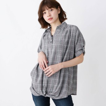SHOO・LA・RUE シューラルー 裾ねじりスキッパーシャツ+タンクトップ