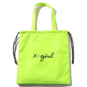 (X-girl/エックスガール)CURSIVE LOGO 2WAY BAG/レディース イエロー
